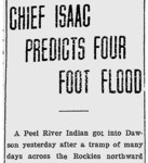 Chief Isaac Predicts Four Foot Flood