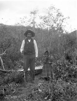 Han Chief Issac and Small Han Girl, near Moosehide, YT